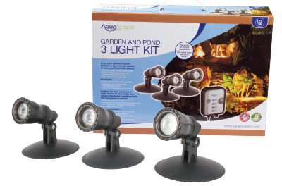 LED Garden and Pond Spotlight Kit – 3 watt