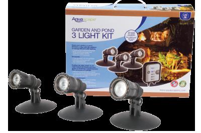 LED Garden and Pond Spotlight Kit – 3 watt